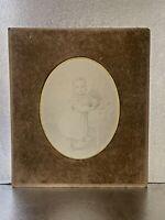 DESSIN ANCIEN XIXEME, 1849, PETITE FILLE AU HOCHET, BELLE ECOLE FRANCAISE