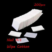 Acrylic Manicure UV Gel Tips Nail Art Cleaner Wipes Lint Pads Remover Cotton