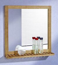 Wandspiegel mit Ablage 60x63 Walnuss Holz Spiegel