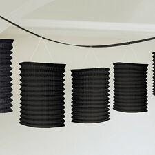 Black Paper Lantern Garland Black Party Decorations Bunting Wedding Party Banner