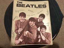 1964 ORIGINAL BEATLES 3 RING BINDER NEMS STANDARD PLASTICS