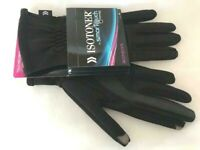 ISOTONER SMART TOUCH Black Knit Winter Touch Screen Compatible Gloves - One Size