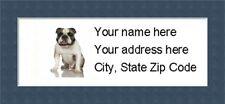 "Bulldog Return Address Labels  - Personalized ""BUY 3 GET ONE FREE"""