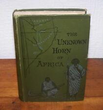 1890 The UNKNOWN HORN OF AFRICA By F. L. JAMES SECOND EDITION With Illustrations