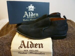 Black Suede Shoes Alden for Men for