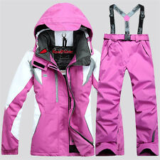 HOT Women's Winter Waterproof Jacket Coat Pants Outdoor Sports Ski Suit Clothing