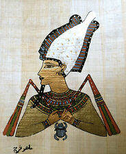 5 by 7 Egyptian Papyrus genuine hand painted Akhnaton