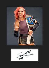 BECKY LYNCH #2 (WWE) Signed (Reprint) Photo A5 Mounted Print - FREE DELIVERY