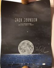 Jack Johnson Auto Signed Live At Third Man Records Poster 6/15/13 JSA #J03726