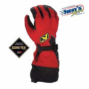 KLIM Red FUSION GORE-TEX Winter Snowmobile Gloves (Size X-Small), 3087-000-100