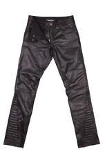 Damen Lederhose Jeans Modeka Edda schwarz Gr. 38