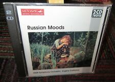 EVGENY SVETLANOV: RUSSIAN MOODS 2-DISC MUSIC CD SET, 16 TRACKS, USSR SYMPHONY