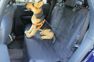 Waterproof Car Rear Back Seat Cover Protector Pet Dog Hammock Mat Liner Black UK