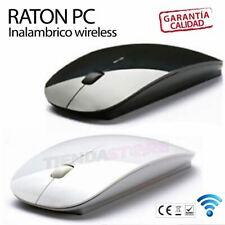 Ratón mouse inalambrico sin cables extraplano diseño plano Blanco o Negro