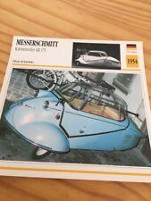 Messerschmitt Kabinenroller KR 175 1954  Carte moto Collection Atlas Allemagne