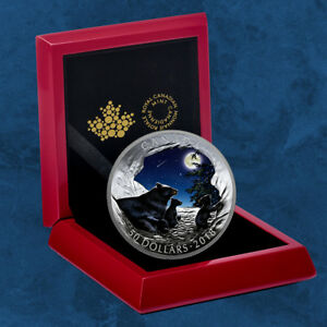 Canada - Nature's Light Show: Moonlit Tranquility - 50 $2018 Pf - Silver