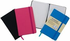 A6 'Notable' Soft Leather Look Professional Notebook Lined Notepad - Black