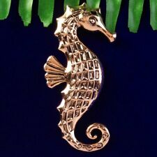 65x25x8mm Ancient Red Copper Seahorse Pendant Brooch