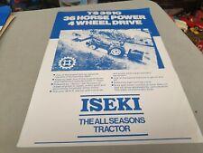 1980s ? ISEKI TS3510 Tractor New Zealand  Sales Leaflet