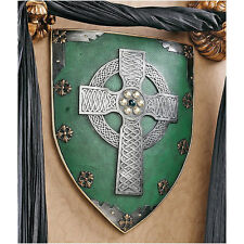 "Celtic Warriors Design Toscano Exclusive 18"" Hand Painted Sculptural Wall Shield"