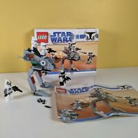 Lego Star Wars 8014 - Clone Walker Battle Pack 100% Complete Instructions & Box