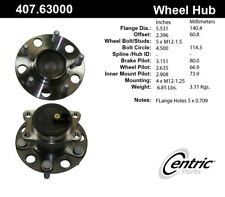 Wheel Bearing and Hub Assembly fits 2007-2017 Jeep Compass,Patriot  C-TEK BY CEN