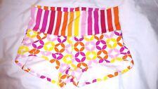 SWIM SYSTEMS Roll Up-Down Waist Small Bikini Bottoms Pink Yellow Orange White S