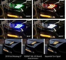 Pair of 2018-2019 Ford Mustang LED DRL Boards - Multi Color W/ Bluetooth