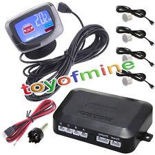 LCD Display Car 4 sensori di parcheggio 12V 230 centimetri Bianco