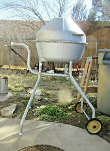 """Vintage PK """"The Duchess Cooker"""" Charcoal Grill Smoker All  Aluminum MCM"""