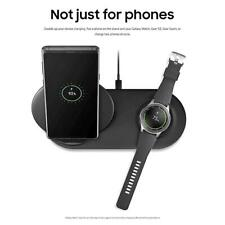For Samsung Galaxy Wireless Fast Dual Charger Duo Dock Note 9 8 Phone Gear Watch