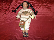 Duck House Original #1/5000 Native American Indian Heirloom Porcelain Dolls 20""