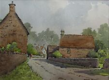 DUNCAN RUSSELL - Original Signed Watercolour - YANWORTH COTSWOLDS