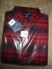 Croft & Barrow Men's Flannel Shirt MT LT Tall Red Button Down True Comfort NWT