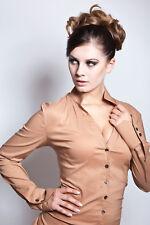 Blusenbody, Bodybluse, Bluse in congnac, Shirt, Hemd, Gr.38