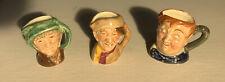 Vintage Royal Doulton Toby Jug Set Of 3 Tiny Size: Fat Boy, Arry, Arriet.