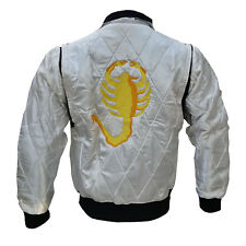 Men's Drive Ryan Gosling Embroidered Scorpion Quilted Bomber Satin Jacket