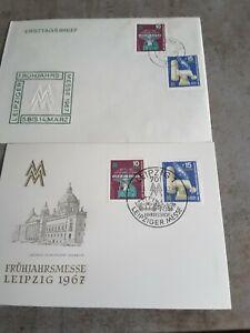 Erstagskarte und Ersttagsbrief Frühjahrsmesse Leipzig 1967