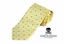 Lord R Colton Basics Tie - Yellow Ice & Navy Woven Necktie - $49 Retail New