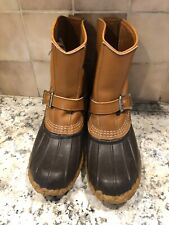 Vintage Ll Bean Boots Maine Hunting Shoe Usa Made Buckle Men Size 7