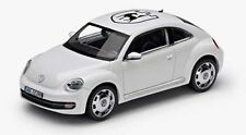 NEW GENUINE VW BEETLE WHITE 'WOLFSBURG' 1:43 SCALE DIECAST MODEL CAR