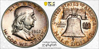 1962 Silver Franklin Half Dollar PCGS PR66 - Cool Rare Old Mint Set Toning