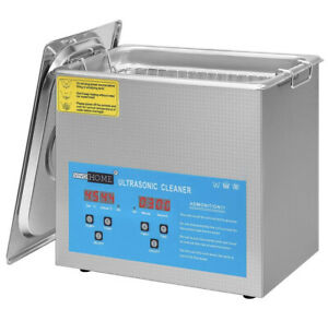 3L Professional Digital Ultrasonic Cleaner Machine Timer Heated US - No basket