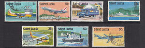 St Lucia 1980 Transport part set fine used