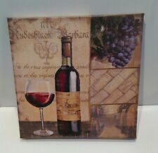 Wine Bottle Canvas Print Wall hanging kitchen bar Home decor Picture