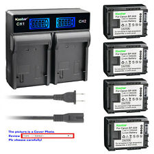 Kastar Battery LCD Rapid Charger for Canon BP-808 & Canon VIXIA HF M46 Camcorder