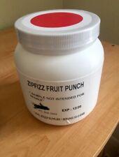 ZIPFIZZ HEALTHY ENERGY DRINK. BULK TUB. New. Fruit Punch. Exp: 06/21