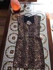 Leopard print denim Style dress
