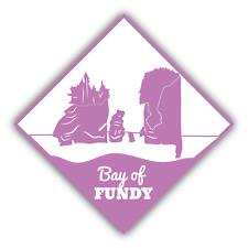 "Bay Of Fundy Travel Car Bumper Sticker Decal 5"" x 5"""