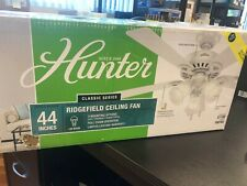 Hunter Ridgefield 44 in. Indoor White Ceiling Fan with LED Lights 51109